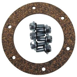 "Tanks Inc. 3-1/4"" 6 Hole Cork Gasket w/ 10-32 x 5/8"" Screws - 3G-KIT"