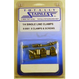 "Totally Stainless 1/4"" Stainless Single Line Clamps"