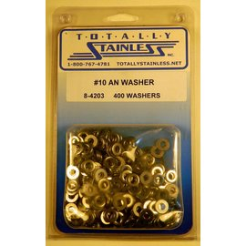 Totally Stainless #10 AN Stainless Flat Washers