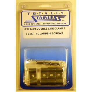 Totally Stainless 3/16 x 3/8 Double Line Clamps - Panel 1 (B3) - #8-0513