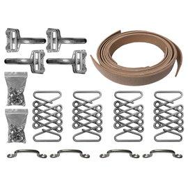 Vintage Hot Rod Hood Strap Kit - Stainless Steel - HSK1001SS