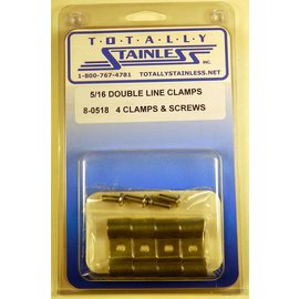 Totally Stainless 5/16 Double Line Clamps - Panel 1 (C3) - #8-0518