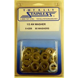 "Totally Stainless 1/2"" AN Stainless Flat Washers"