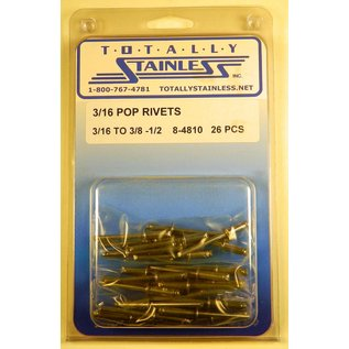 Totally Stainless 3/16 Pop Rivets - Panel 1 (E5) - #8-4810