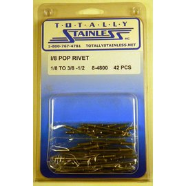 Totally Stainless 1/8 Pop Rivets - Panel 1 (E4) - #8-4800