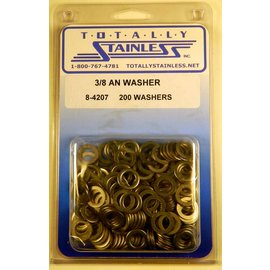 "Totally Stainless 3/8"" AN Stainless Flat Washers"