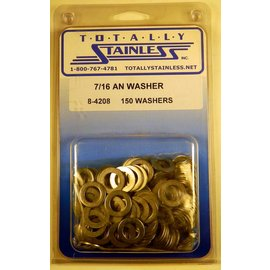 "Totally Stainless 7/16"" AN Stainless Flat Washers"