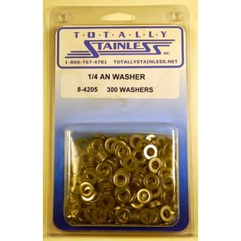 "Totally Stainless 1/4"" AN Stainless Flat Washers"