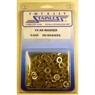 """Totally Stainless 1/4"""" AN Stainless Flat Washers"""