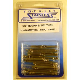 Totally Stainless Stainless Cotter Pins: 3/32-3/16 Diameter