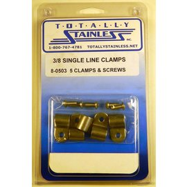 "Totally Stainless 3/8"" Stainless Single Line Clamps"