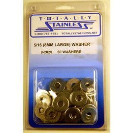 Totally Stainless 5/16 (8MM) Stainless Large Flat Washers