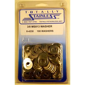 Totally Stainless 3/8 Stainless MS813 Flat Washers