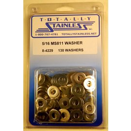 Totally Stainless 5/16 Stainless MS811 Flat Washers