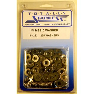 "Totally Stainless 1/4"" Stainless MS810 Flat Washers"