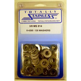 "Totally Stainless 3/8"" Stainless MS814 Flat Washers"