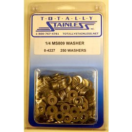 "Totally Stainless 1/4"" Stainless  MS809 Flat Washers"