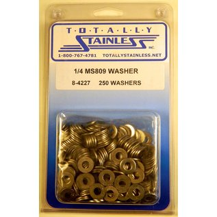 """Totally Stainless 1/4"""" Stainless  MS809 Flat Washers"""