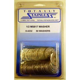 "Totally Stainless 1/2"" Stainless MS817 Flat Washers"