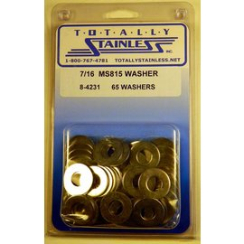 "Totally Stainless 7/16"" Stainless MS815 Flat Washers"