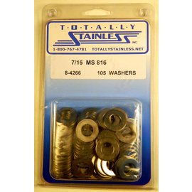 "Totally Stainless 7/16"" Stainless MS816 Flat Washers"