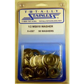 "Totally Stainless 1/2"" Stainless MS818 Flat Washers"