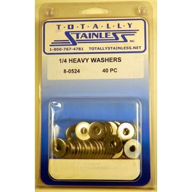 Totally Stainless 1/4 Stainless Heavy Flat Washers