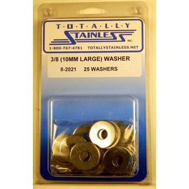 Totally Stainless 3/8 (10MM) Stainless  Large Flat Washers
