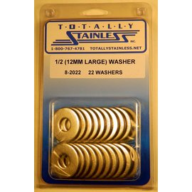 Totally Stainless 1/2 (12mm Large) Washers - Panel 2 (F3) - #8-2022