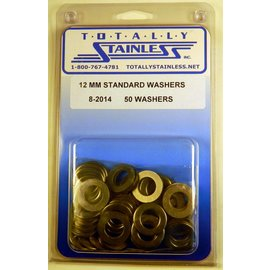 "Totally Stainless 1/2"" (12MM) Standard Washers - Panel 2 (A1) - #8-2014"