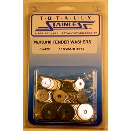 Totally Stainless #6, 8 & 10 Stainless Fender Washers