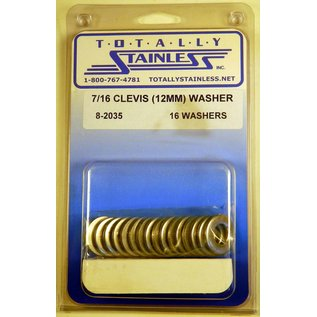 Totally Stainless 7/16 (12mm) Stainless Flat Clevis Washers