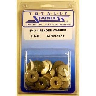 Totally Stainless 1/4 x 1 Stainless Fender Washers