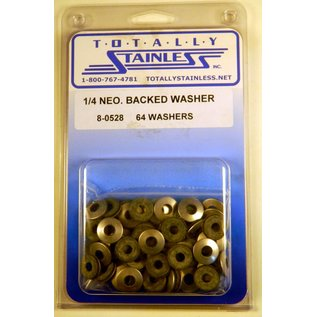 Totally Stainless 1/4 Stainless Neoprene Backed Flat Washers