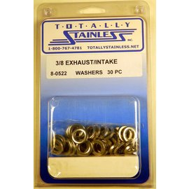 Totally Stainless 3/8 Stainless Intake/Exhaust Flat Washers