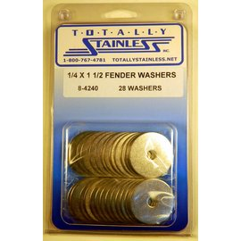 Totally Stainless 1/4 x 1 1/2 Stainless Fender Washers