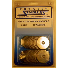 Totally Stainless 5-16 x 1 1/2 Fender Washers - Panel 2 - #8-4241