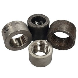 "Tanks Inc. 1/4"" Weld In NPT Half Coupling - Mild Steel - 4NPT-MS"