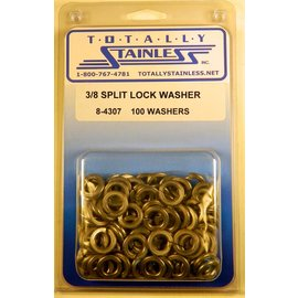 Totally Stainless 3/8 Split Lock Washers - Panel 3 - #8-4307