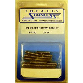 Totally Stainless 1/4-20 Set Screw Assortment - Panel 3 - #8-1750