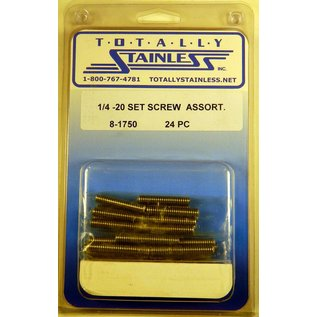 Totally Stainless 1/4-20 Stainless Set Screw Assortment