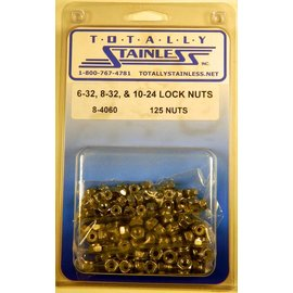 Totally Stainless 6-32, 8-32, 10-24 Lock Nuts - Panel 3 - #8-4060