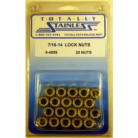 Totally Stainless 7/16-14 Lock Nuts - Panel 3 - #8-4059