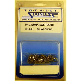 Totally Stainless 1/4 Stainless Counter Sunk Tooth Lock Washers