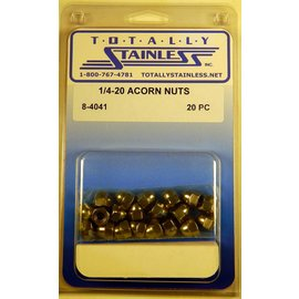 Totally Stainless 1/4-20 Stainless Acorn Nuts