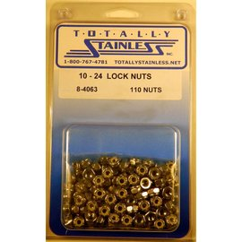 Totally Stainless 10-24 Lock Nuts - Panel 3 - #8-4063