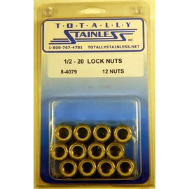 Totally Stainless 1/2-20 Lock Nuts - Panel 3 - #8-4079