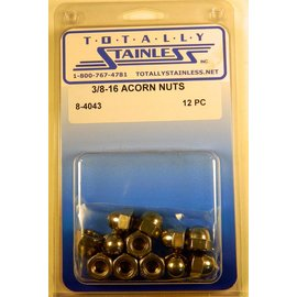 Totally Stainless 3/8-16 Acorn Nuts - Panel 3 - #8-4043