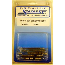 Totally Stainless Short Set Screw Assortment - Panel 3 - #8-1700