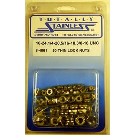 Totally Stainless #10, 1/4, 5/16, 3/8 Thin Lock Nuts - UNC- Panel 3 - #8-4061